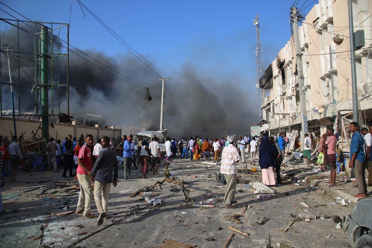 انفجار أمام السفارة القطرية في الصومال
