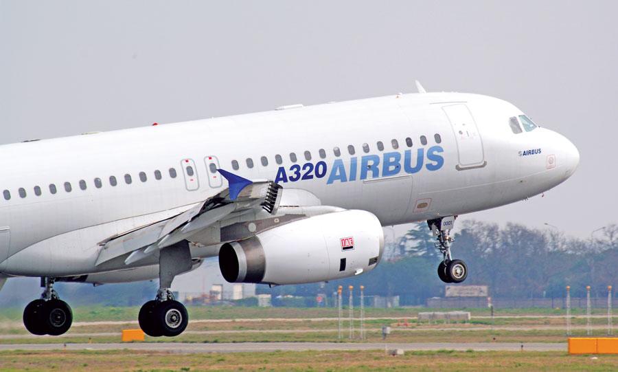 طائرة تابعة لشركة ايرباص