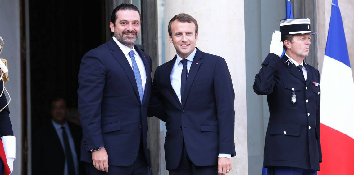 سعد الحريري والرئيس الفرنسي إيمانويل ماكرون