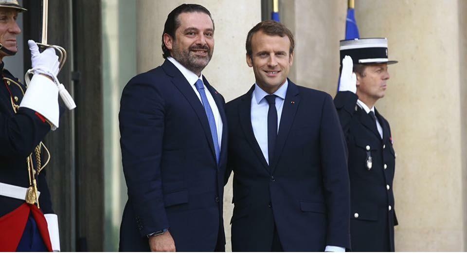 سعد الحريري و الرئيس الفرنسي إيمانويل ماكرون
