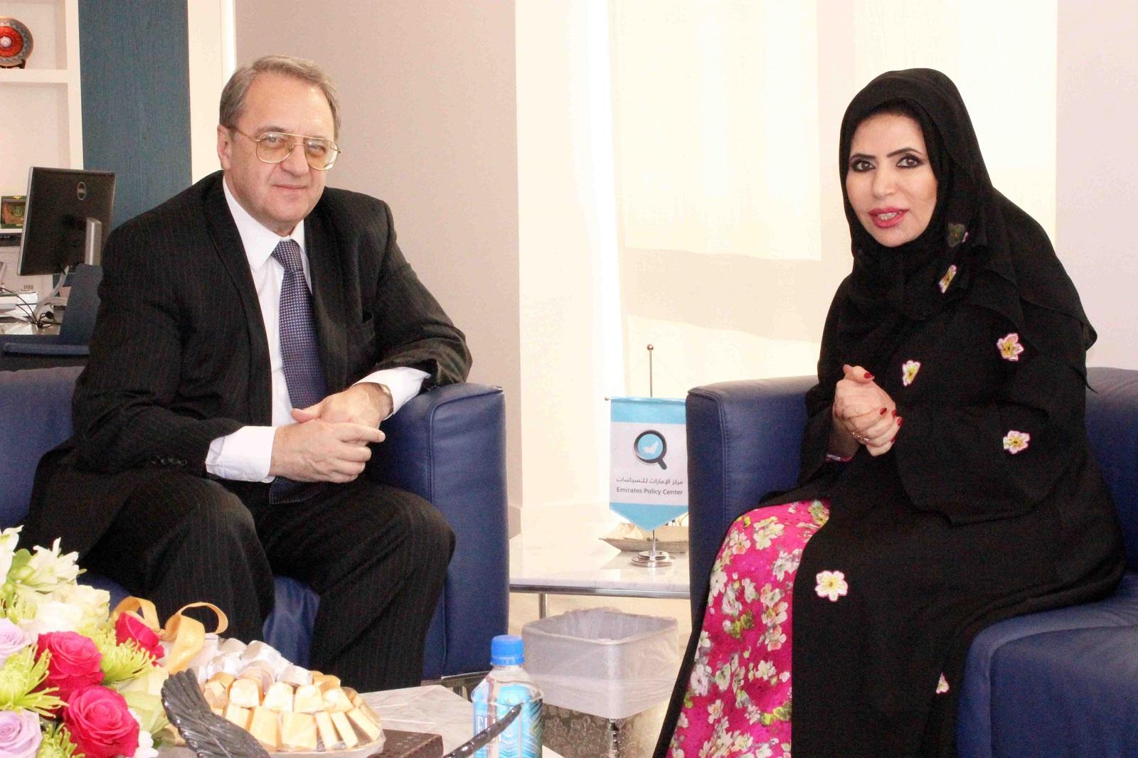 مبعوث الرئيس الروسي إلى الشرق الأوسط والدكتورة ابتسام الكتبي