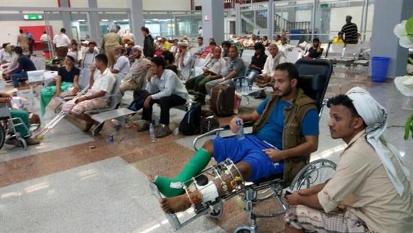 عدد من الجرحى اليمنيين (أرشيفية)
