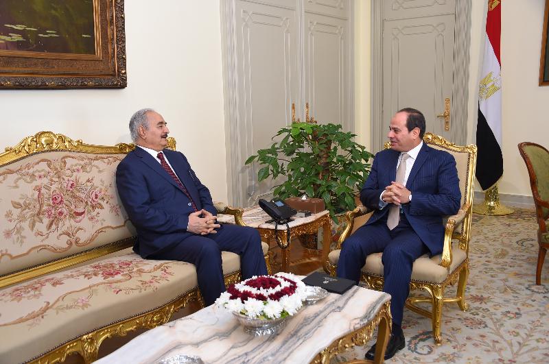 المشير حفتر مع الرئيس السيسي
