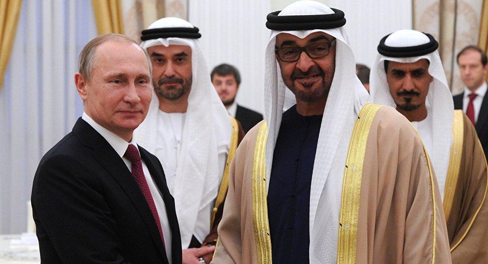 ولي عهد ابو ظبي محمد بن زايد وفلاديمير بوتين رئيس روسيا