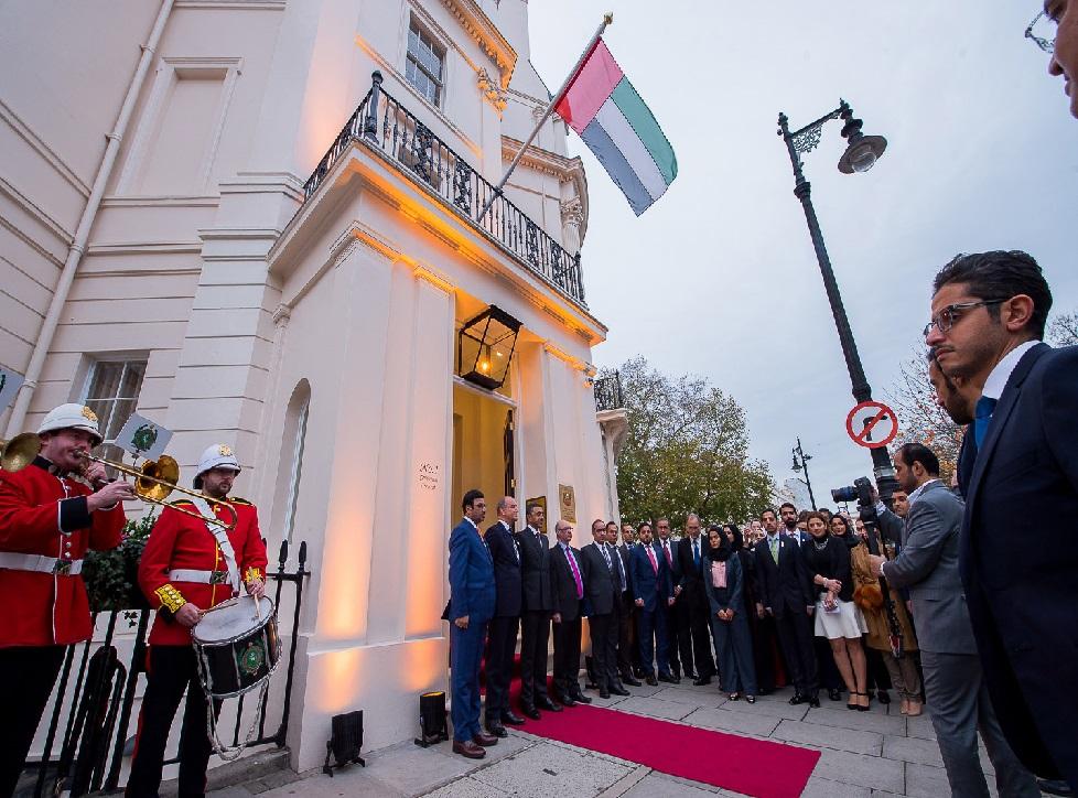 عبدالله بن زايد يفتتح المقر الجديد لسفارة الدولة في لندن