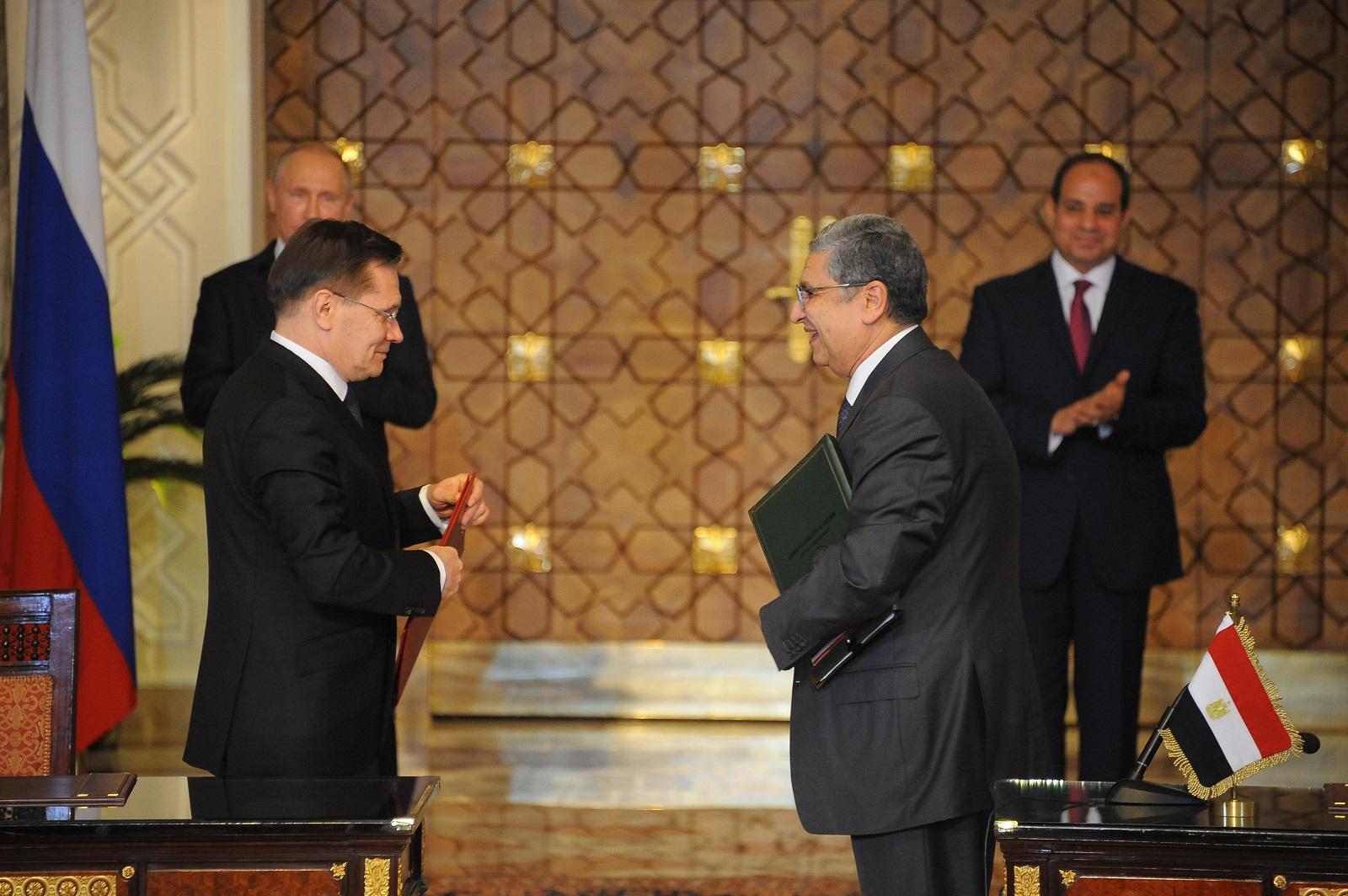 السيسي وبوتن شهدا توقيع اتفاق الضبعة.