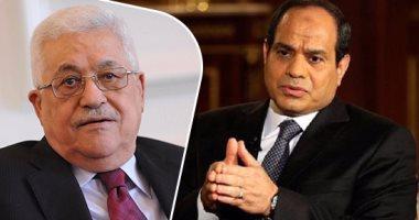محمود عباس والرئيس السيسى
