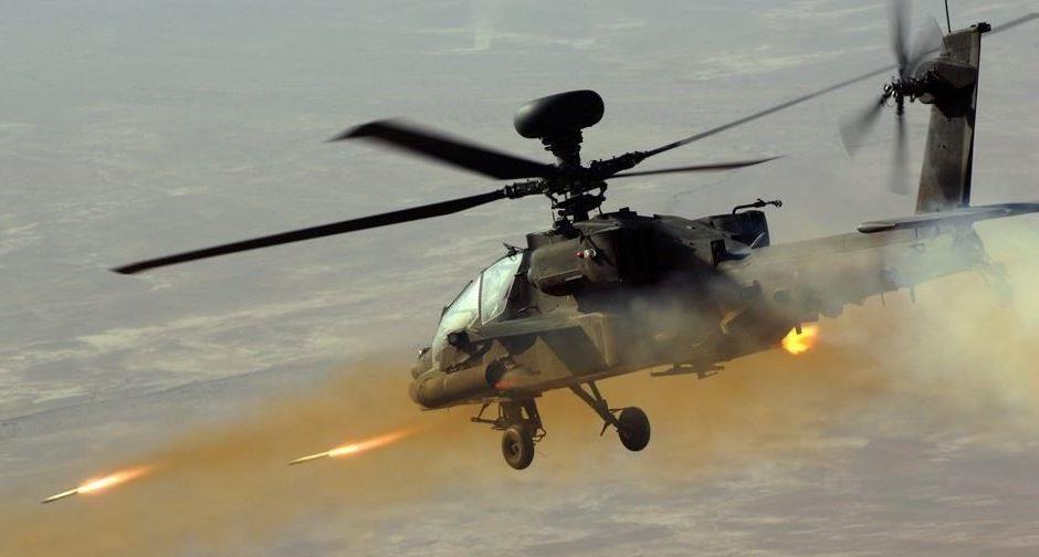إطلاق صواريخ من طائرات هليكوبتر