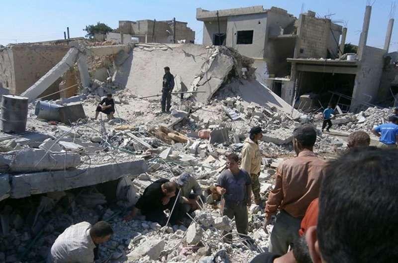 قذائف صاروخية على سوريا