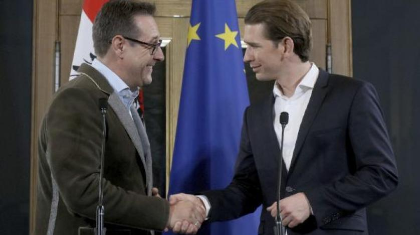هاينز كريستيان ستراتش زعيم حزب الحرية اليميني المتطرف في النمسا