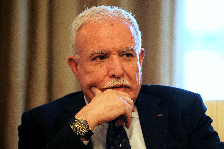 وزیر الخارجیة الفلسطیني
