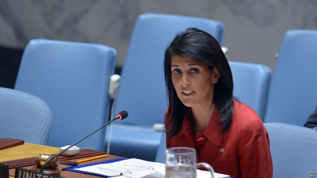 نيكي هيلي مندوبة الولايات المتحدة لدى الأمم المتحدة