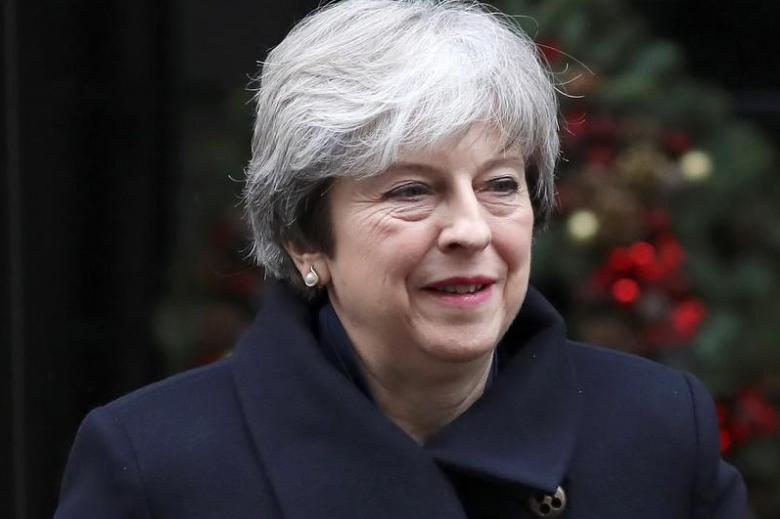 رئيسة الوزراء البريطانية تيريزا ماي صورة أرشيفية