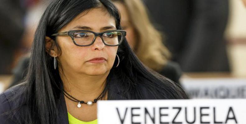 رئيسة الجمعية الوطنية التأسيسية الفنزويلية ديلسي رودريجيز