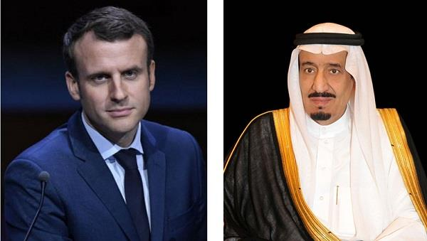 الملك سلمان بن عبدالعزيز والرئيس الفرنسي إيمانويل ماكرون.