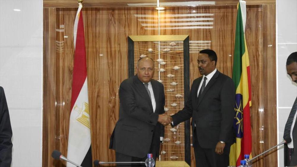 وزير الخارجية المصرى مع نظيره الإثيوبي
