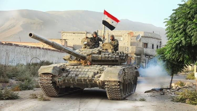 عناصر من  قوات الجيش السوري
