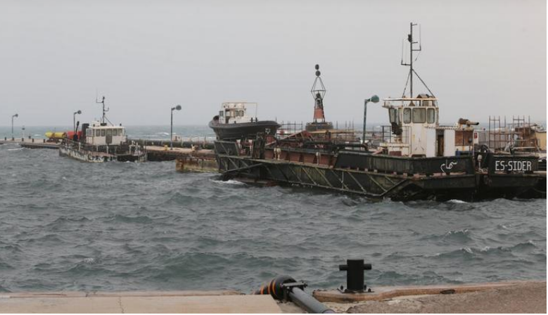 صورة لميناء السدر النفطي الليبي