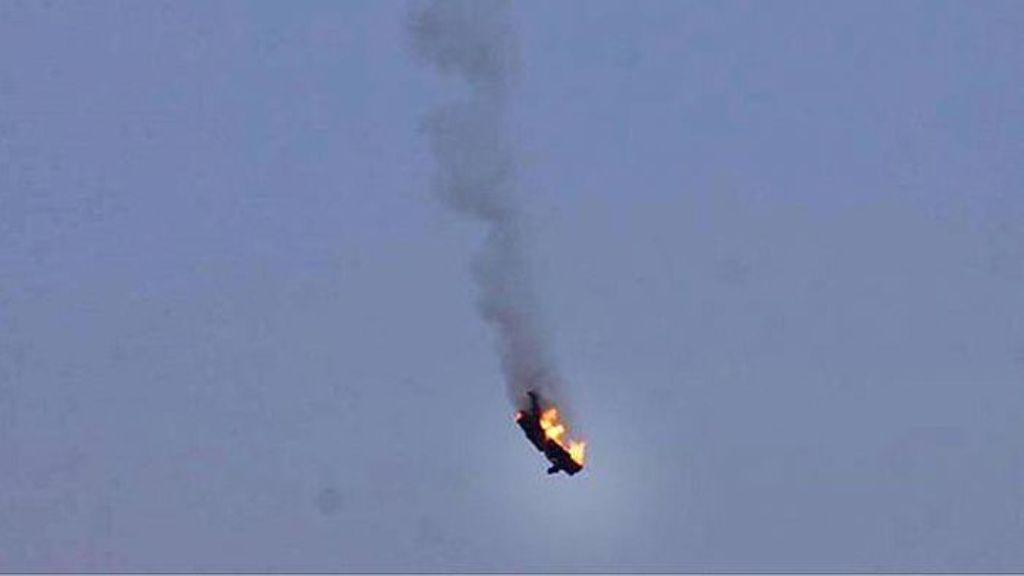 إسقاط  طائرة عسكرية في محافظة حماة