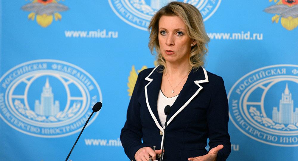ماريا زاخاروفا المتحدثة باسم وزارة الخارجية الروسية