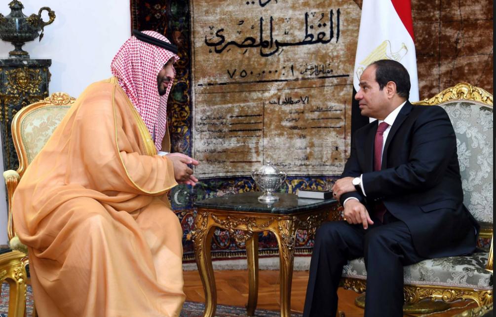 الرئيس عبد الفتاح السيسي ولي العهد السعودي سمو الأمير محمد بن سلمان