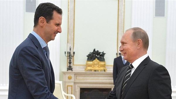 الرئيس الروسي بوتين نظيره السوري بشار الأسد