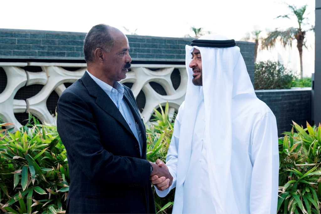 الشيخ محمد بن زايد آل نهيان يستقبل رئيس أريتريا