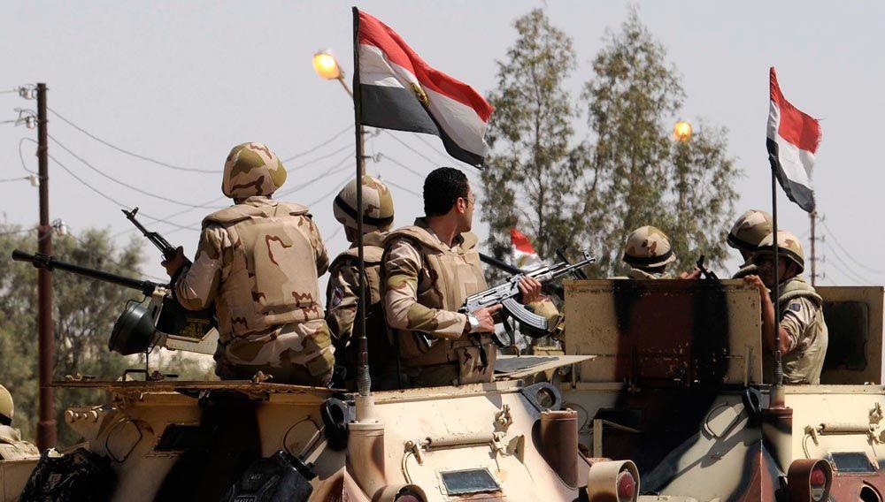 قوات الجيش المصري فى شمال سيناء