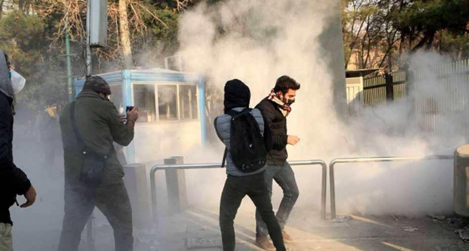 جانب من الاحتجاجات في العاصمة الإيرانية طهران