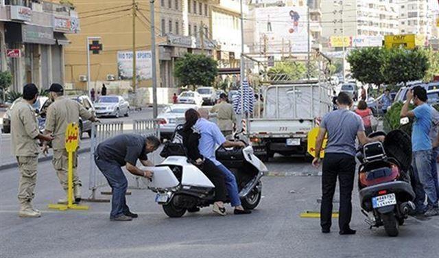 الحواجز الأمنية فى بيروت