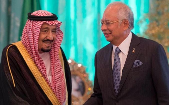 رئيس الوزراء الماليزي الملك سلمان