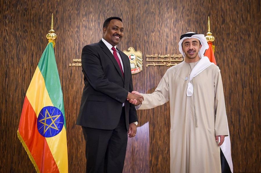 الشيخ عبدالله بن زايد آل نهيان ونظيره الأثيوبي