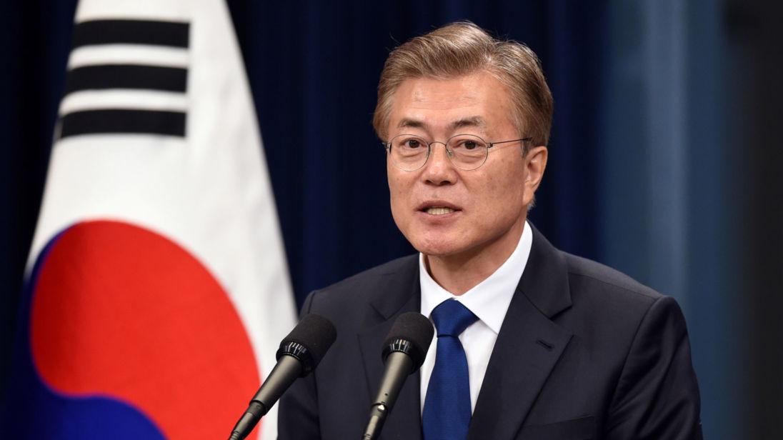 الرئيس الكوري الجنوبي مون جيه-إن