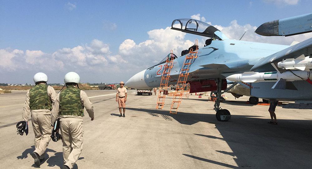قاعدة حميميم الروسية في سوريا أ.ف.ب