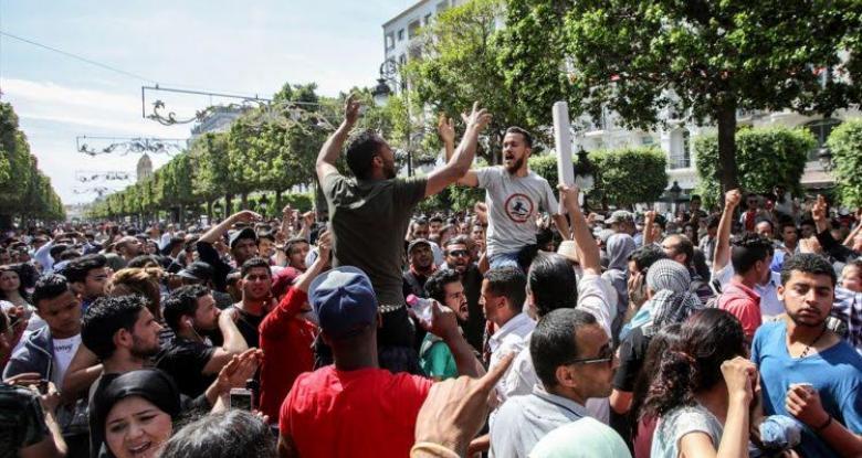 احتجاجات الغلاء فى تونس (أرشيفية)
