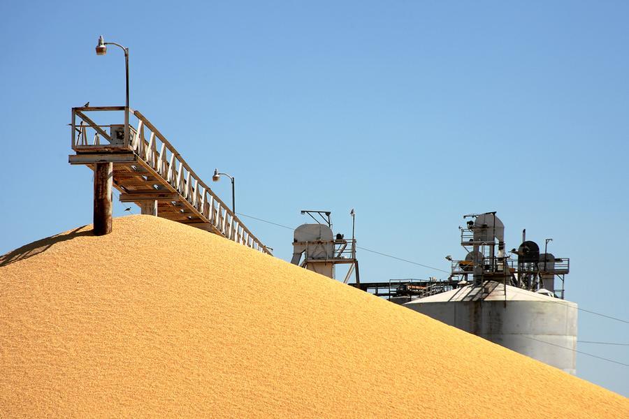 إحدى الصوامع التابعة لمؤسسة الحبوب السعودية