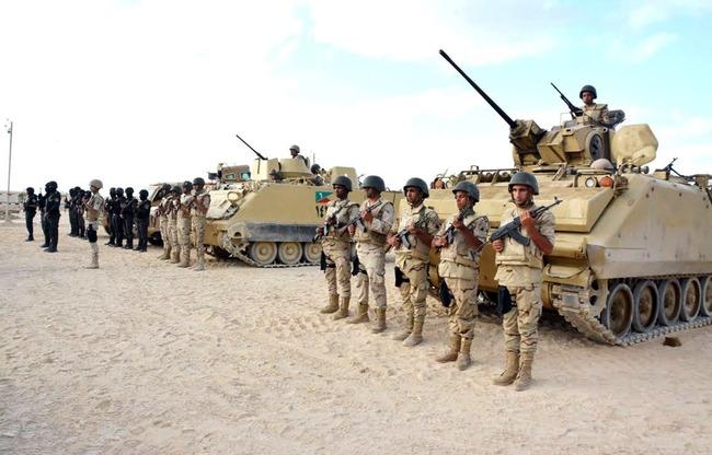 قوات الجيش والشرطة فى سيناء