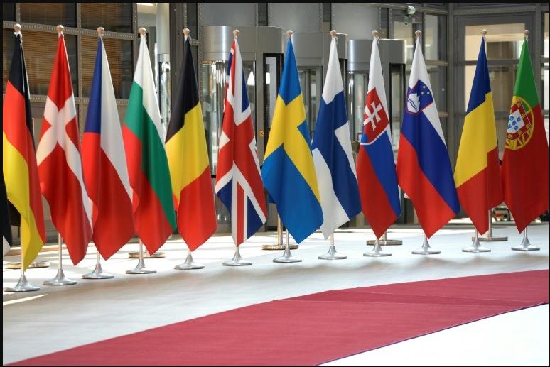 اعلام الدول الاعضاء في الاتحاد الاوروبي
