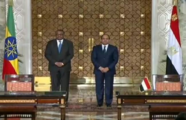 الرئيس السيسى ورئيس وزراء إثيوبيا
