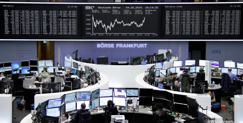 ارتفاع الأسهم الأوروبية - الصورة لمؤشر داكس الألمانى ببورصة فرانكفورت
