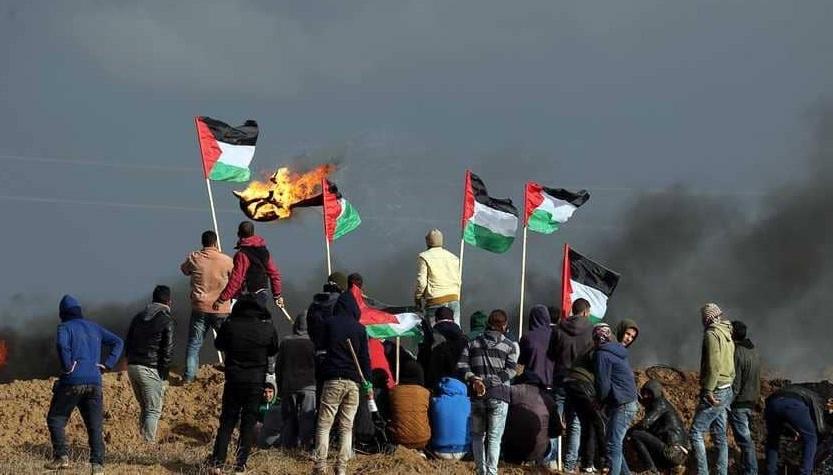 تظاهرات للفلسطينيين