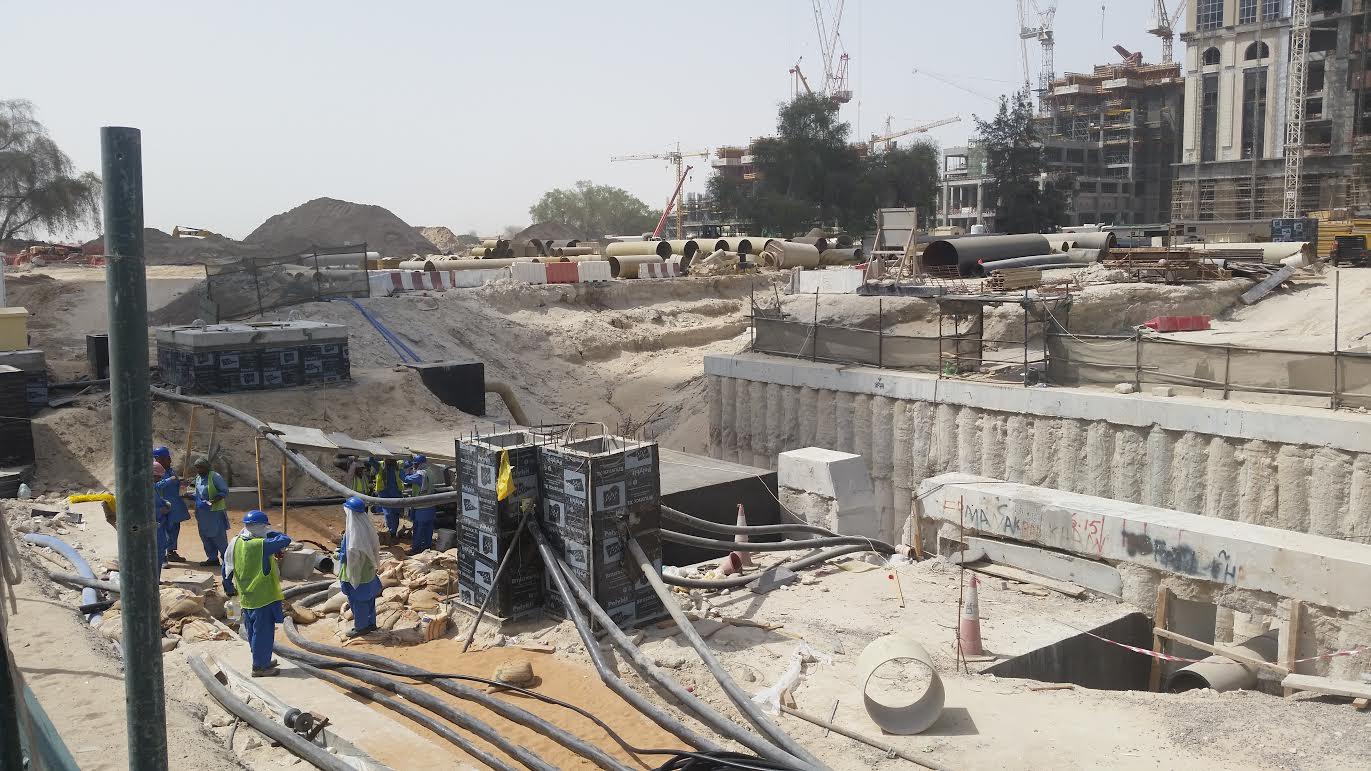 أعمال البناء فى دبى