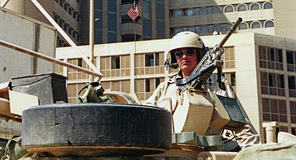 أحد الجنود الأمريكىين فى العراق