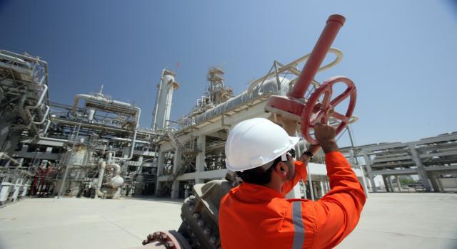 أحد مواقع إنتاج الغاز