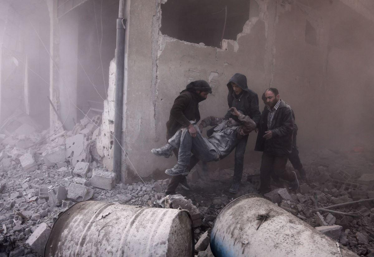 قصف سوري على الغوطة