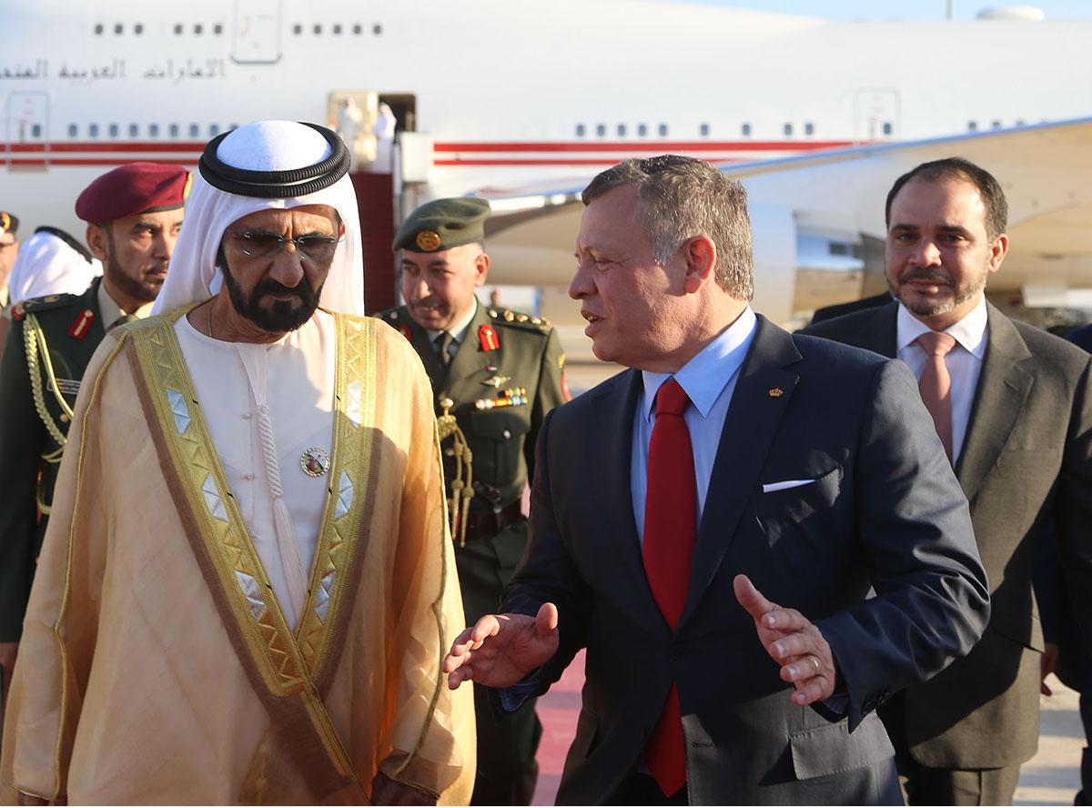 الشيخ محمد بن راشد يلتقي عاهل الأردن