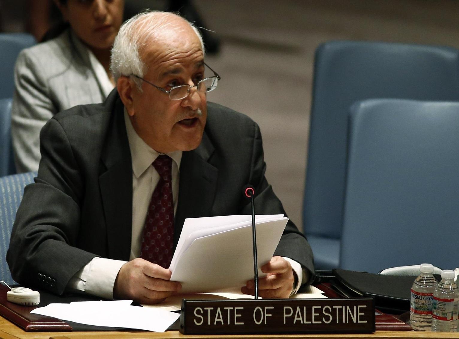 المندوب الفلسطيني لدى الأمم المتحدة رياض منصور