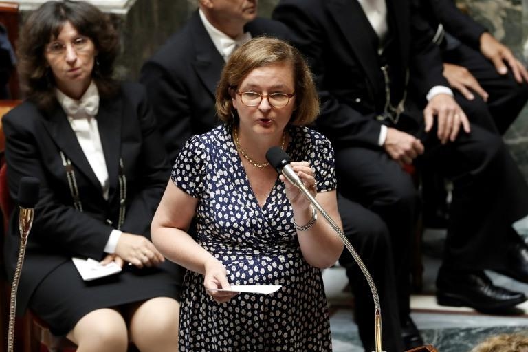 وزيرة الدولة الفرنسية للشؤون الاوروبية ناتالي لوازو في البرلمان الفرنسي