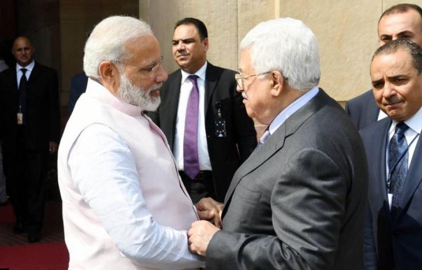 رئيس وزراء الهند يصل فلسطين