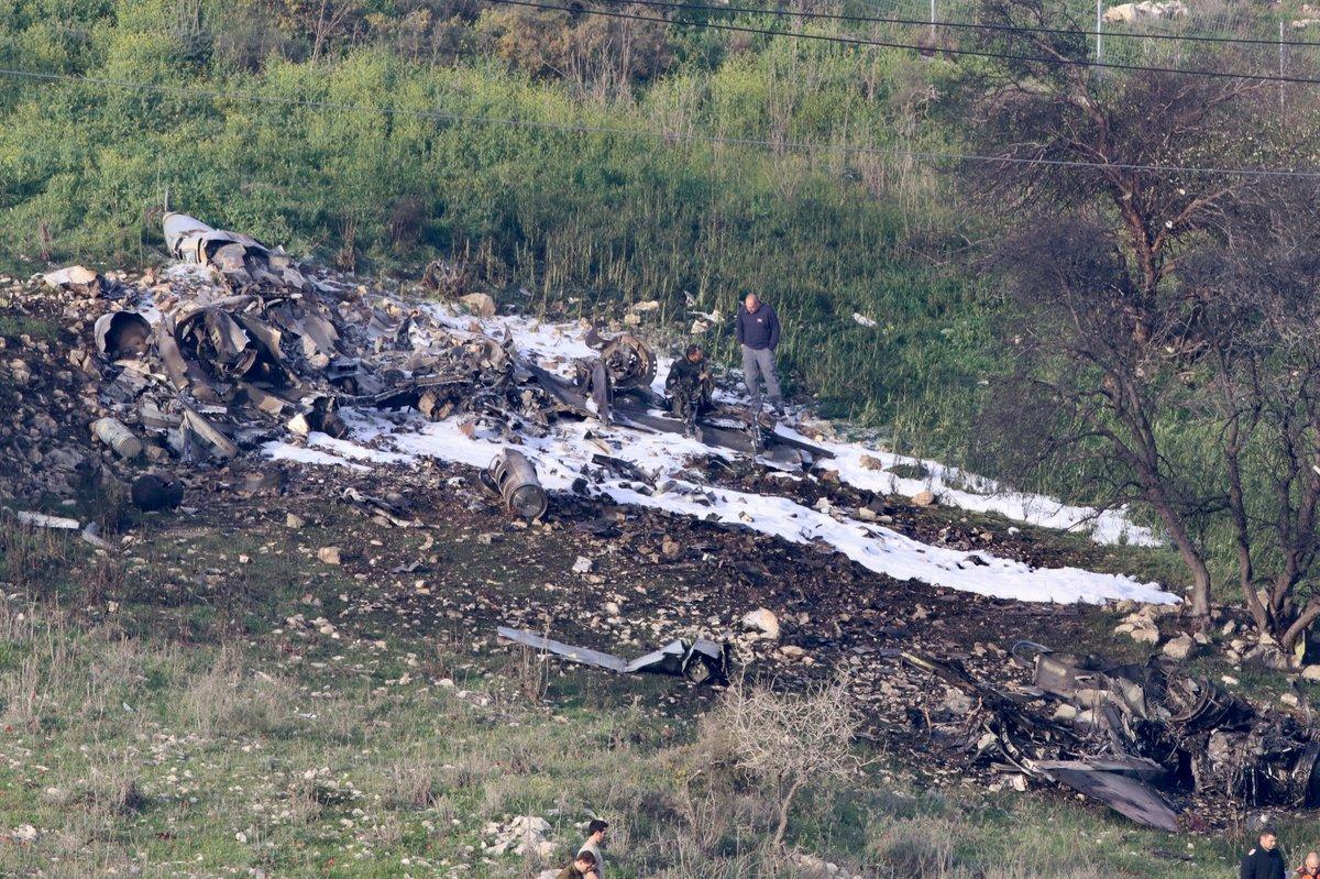 إسقاط طائرة حربية إسرائيلية بسوريا